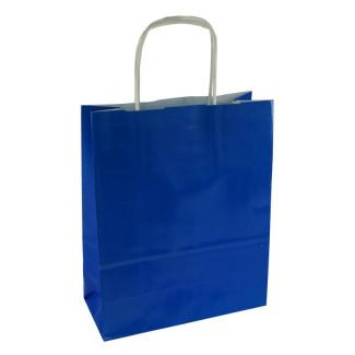 Torba lakierowana 18x8x22 cm - niebieska