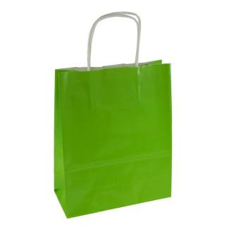 Torba lakierowana 18x8x22 cm - zielona