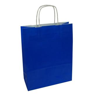 Torba lakierowana 25x11x32 cm - niebieska
