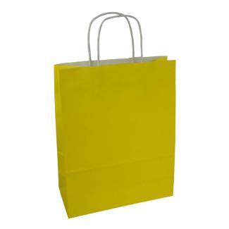 Torba lakierowana 25x11x32 cm - żółta