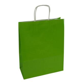 Torba lakierowana 25x11x32 cm - zielona