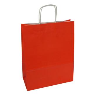 Torba lakierowana 25x11x32 cm - czerwona