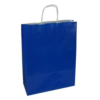 Torba lakierowana 31x12x41 cm - niebieska