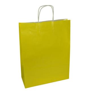 Torba lakierowana 31x12x41 cm - żółta