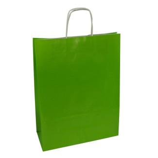 Torba lakierowana 31x12x41 cm - zielona
