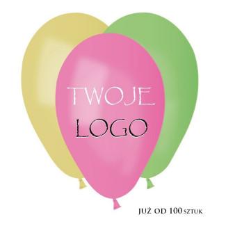 Balony pastelowe z nadrukiem 2 kolory 1 strona