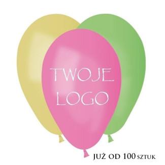 Balony pastelowe z nadrukiem 1 kolor 1 strona